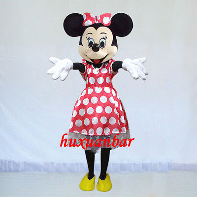 2019 Halloween Minnie Mouse Costume (2019 Minnie Mouse Mascot Costume Sutis Adults Sizes Halloween Dress Epe Head)