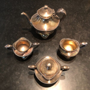 Vintage 4 piece Victorian Silver Tea Set