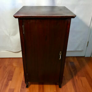 Antique record cabinet with key and lock