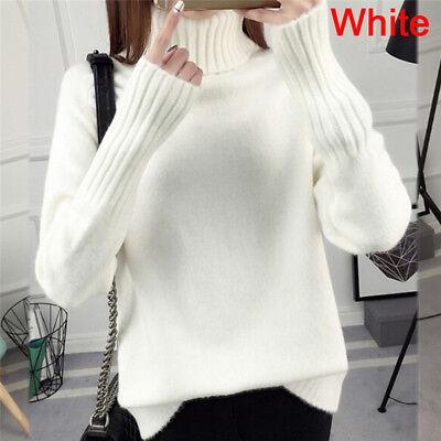 Warm Turtleneck Sweater Women Jumper Women Sweaters Pullovers Knitted  SweateES | eBay