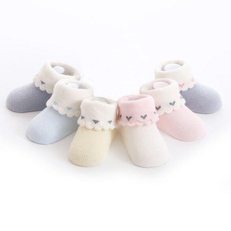 4 Pairs Newborn Baby Socks Christmas Stockings Casual Floor Socks For 0-3 Years