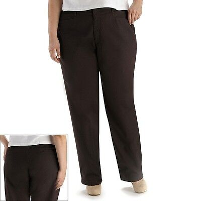 Womens Stretch Twill Pants - JM Collection Womens Plus Pants Twill Espresso Stretch size 14WP NEW