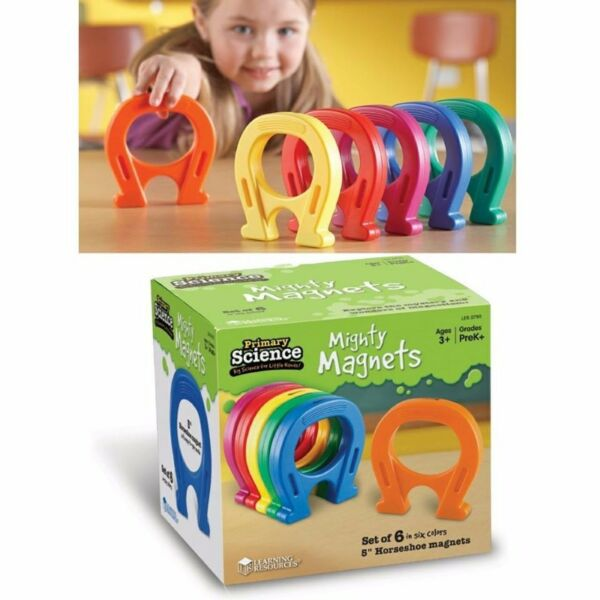 "BN: Learning Resources Mighty Magnet, 5"" Horseshoe Magnet"