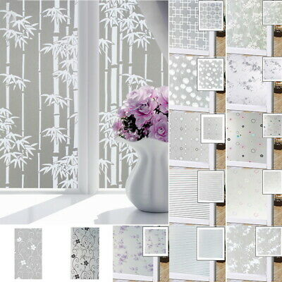 Window Glass Privacy Film Sticker Static Cling 3D Frosted Stained Bathroom Home Frosted Glass Window Film