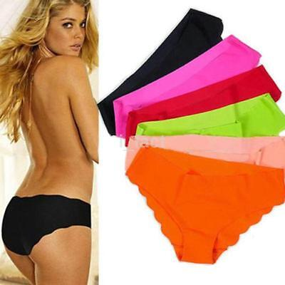 Elegant Women Soft Underpants Seamless Lingerie Briefs Hipster Underwear Panties