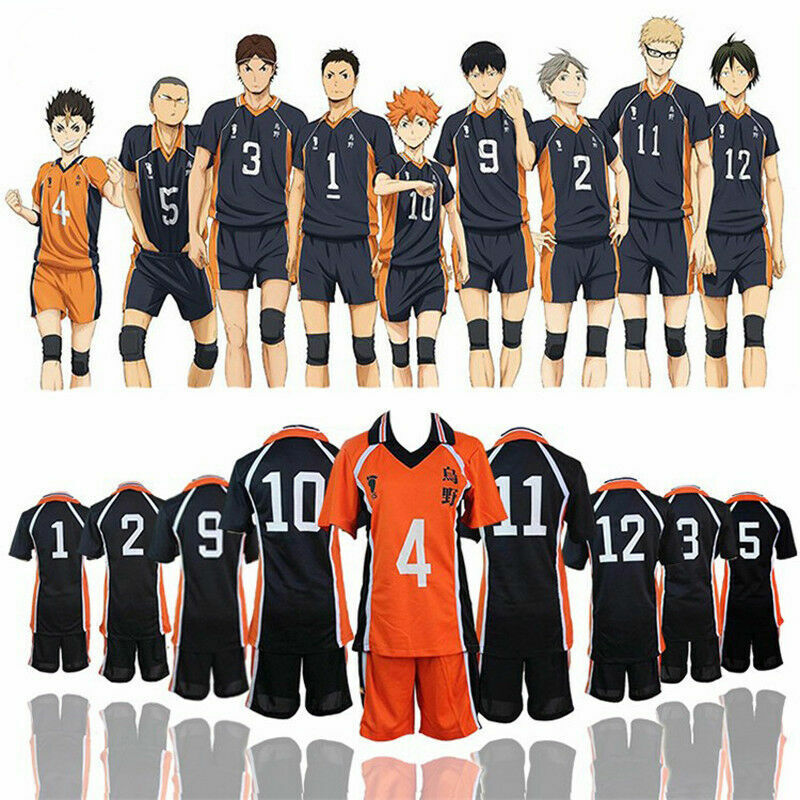 Karasuno High School Volleyball Teams sport suit Cloth Cosplay Costume Haikyu!