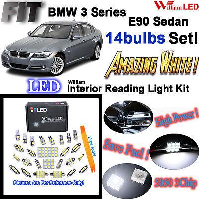 3821e3e56e9 14 Bulbs HID Xenon LED Interior Light Kit For BMW 3 Series E90 Sedan Error  Free
