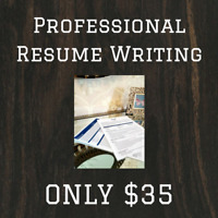 Professional Resume Writing - ONLY $35