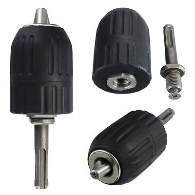 2-13mm Keyless Impact Drill Chuck Hand Tool With Lock And SDS Adaptor K3C9 - Hand Chuck Adapter
