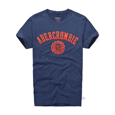 New Abercrombie & Fitch Men T shirt AF Muscle Fit Tee Blue size S