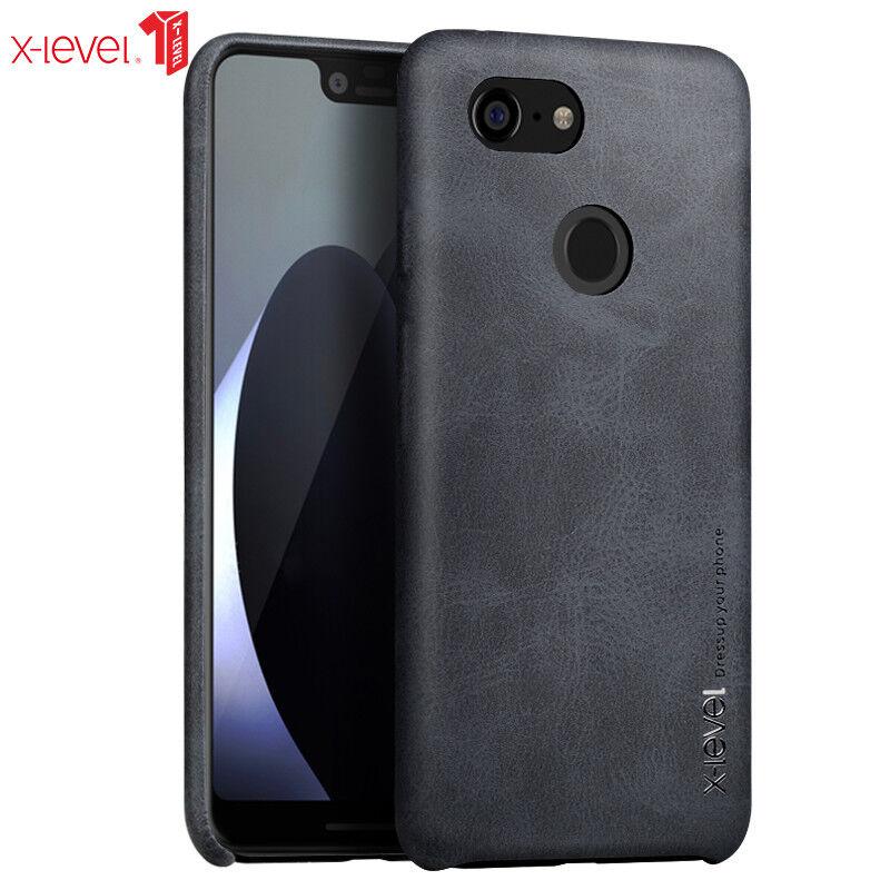 new concept e9344 c9e95 Details about X-Level For Google Pixel 3 /XL Cover, Luxury Business Vintage  Soft Leather Case
