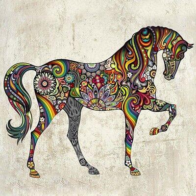 - Wandtatto Wandaufkleber Pferd Abstrakt Wand Sticker Aufkleber Bunt Gemustert