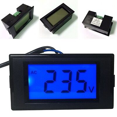 D69-120 Lcd Digital Display Ac Voltmeter Meters Volt Voltage Tester Ac80-500v