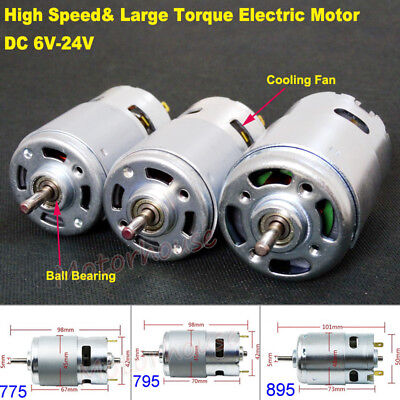 Dc 6v24v 12v 18v High Speed Power Large Torque Rs-775795895 Electric Dc Motor