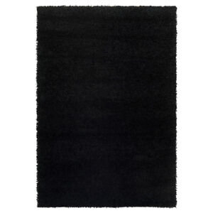 Great condition Black High Pile Area Rug 4.5' x 6.5'