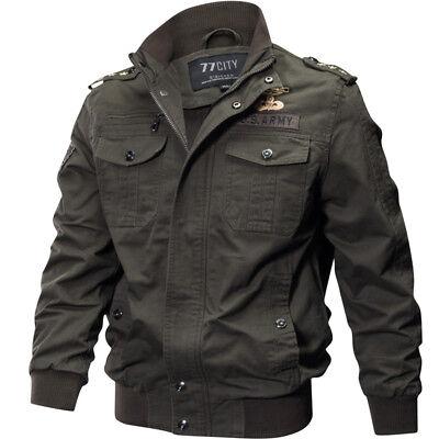 Mens Casual Sports Coats - Mens Casual Sports Air Force Zip Military Tactical Pockets Jackets Coats SJ240