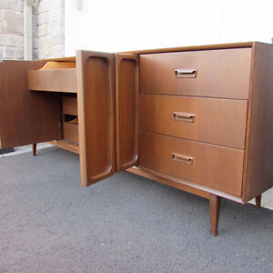 Mobilier set chambre commode mid-century teck scandinave 1
