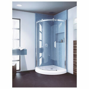 Slik FLOW-36 36 Flow Round Shower Door Clear Glass Chrome