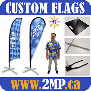 Marketing Promo Event Outdoor Advertising FLAGS + CUSTOM PRINT