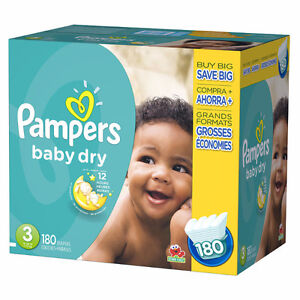 Pampers size 3 baby dry - unopened sleeve - 60 diapers! Cambridge Kitchener Area image 1