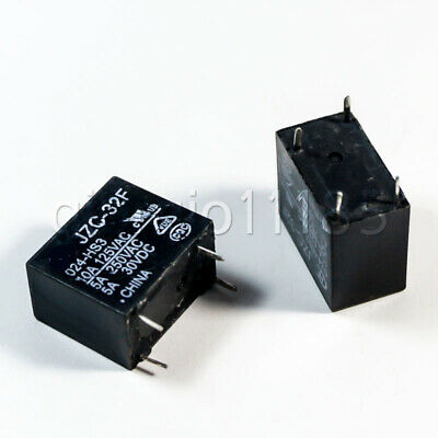 Us Stock 10pcs Power Relay Spst 5a 250vac30vdc Jzc-32f-024-hs