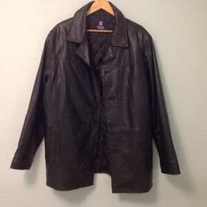 Chaps soft black leather jacket