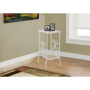 Contemporary Rectangular Accent Table - White