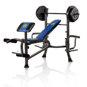 Complete Total Body Workout Home Gym Bench w/weight set