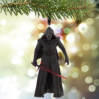 NIB Disney Store Star Wars Force Awakens Kylo Ren Sketchbook Christmas Ornament