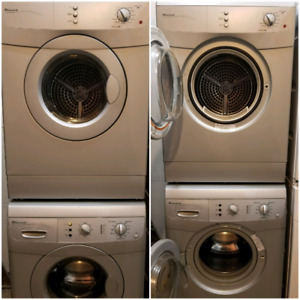 Apartment size silver Eurotech washer and dryer
