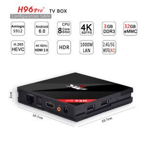 H96 PRO PLUS Amlogic S912 Octa Core 3GB RAM 32GB ROM TV Box - US