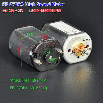 Dc 3v12v 5v 6v 9v 36000rpm High Speed Mabuchi Ff-270pa Micro Dc Motor Bd183210