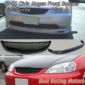 Mugen Front Lip & TR Style Grill Fits 01