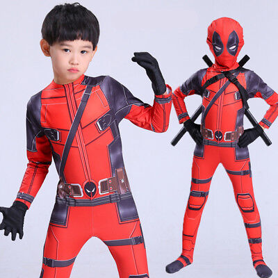 Deadpool Cosplay Costume Tights Halloween Bodysuit Zentai Suit For Adult/Child - Baby Costumes For Adults Halloween