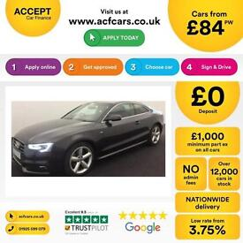 Grey AUDI A5 COUPE 1.8 2.0 TDI Diesel SPORT S LINE FROM £84 PER WEEK!