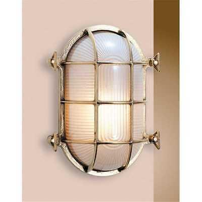 Applique in ottone a forma di tartaruga ovale 17,5 cm illuminazione esterna cas