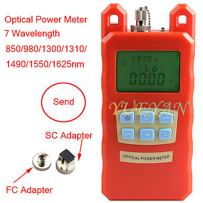 2017handle Fiber Optic Optical Power Meter -7010dbm Scfc Adapter Cable Tester