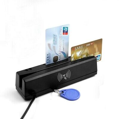 Zcs160 4 In 1 Magnetic Stripe Credit Card Rfid Psam Emv Ic Chip Reader Writer