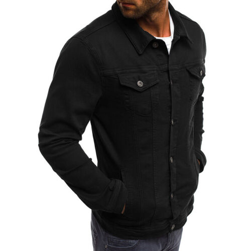MEN Casual Classic DENIM Trucker Jacket Coat