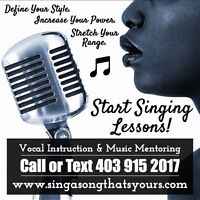 Singing Lessons! Fall Sign Up!
