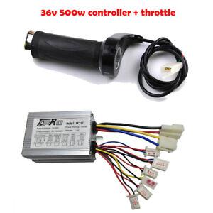 Scooter 36V 500W Motor Brushed Speed Controller Throttle Twist Grip E-Bike Razor