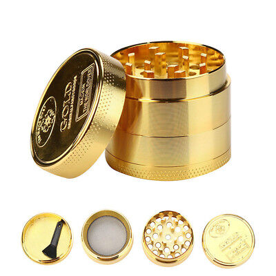 - Gold Tobacco Crusher Metal Tobacco Herb Spice Grinder Spice Mill 40MM 4 Layers