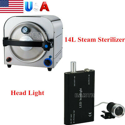 Us 14l Dental Medical Lab Autoclave Steam Sterilizer Sterilization Head Light