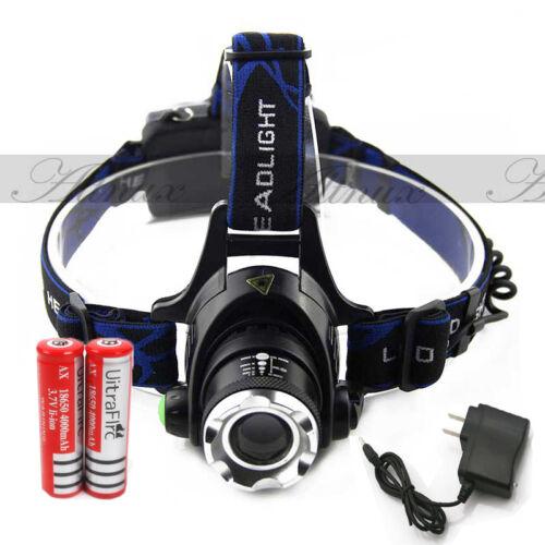 2000LM CREE XM-L T6 LED Headlamp Headlight 18650 flashlight head light lamp A