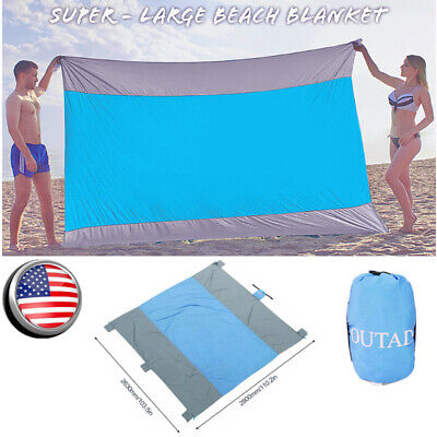 Foldable Nylon Camping Large Outdoor Pocket Waterproof Beach Blanket 110