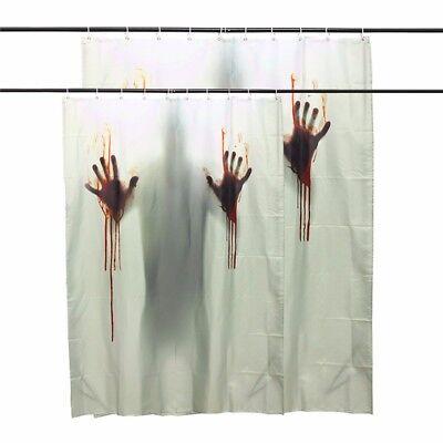 Halloween Horror Blut Blutige Badezimmer Bad Duschvorhang Mörder scary Schatten