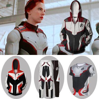 Avengers 4: Endgame Quantum Realm Battle Suit Cosplay Hoodie Sweater Coat Pants