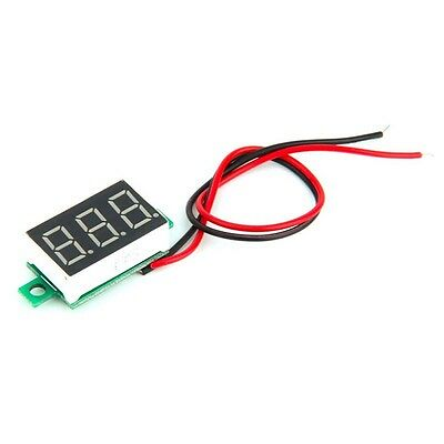 Mini Red Led 3-digital Display Voltage Ammeter Dc Voltmeter Panel Motor Meter Cn