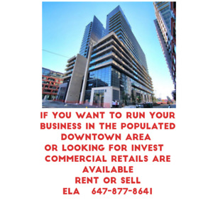 Commercial retail is available