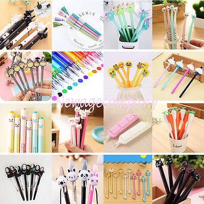 Lots Cute Gel Pen Ballpoint Roller Pen Office Student Stationery Writting Tool